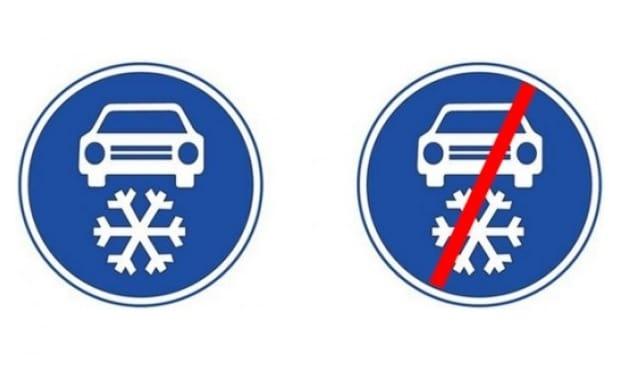 Značka zimní výbava nařizuje povinné zimní pneu