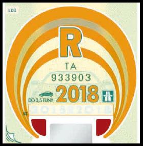 Dálniční známka kupon roční 2018