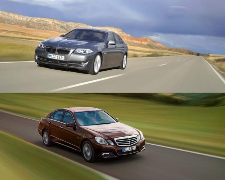 BMW 5 zvítězí nad Mercedesem E na plné čáře