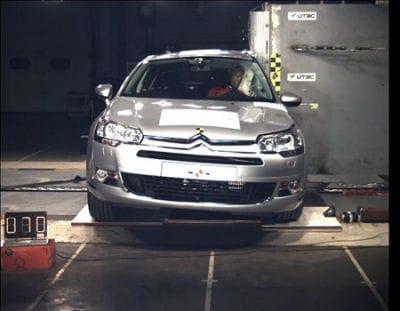 Citroën C5 záskal 5 hvězdiček v Euro NCAP