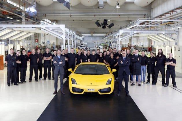 Lamborghini slaví deset tisíc vyrobených kusů modelu Gallardo