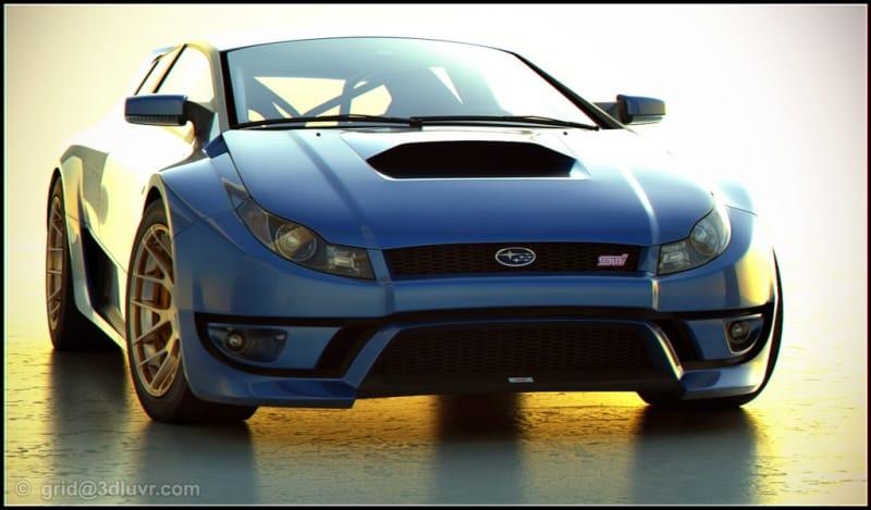 Koncept Subaru WRX STI: vlhké sny designéra