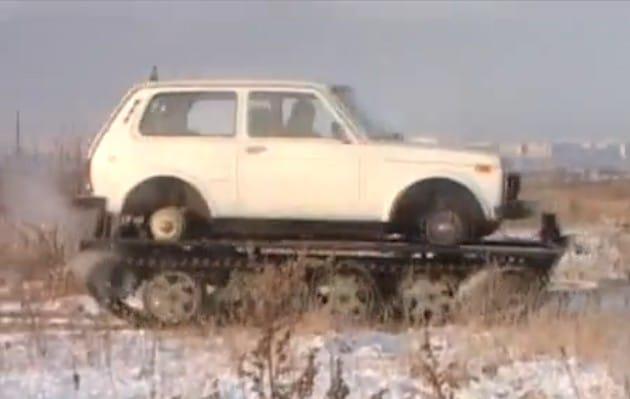 VIDEO: Lada Niva jako tank? V Rusku je možné všechno
