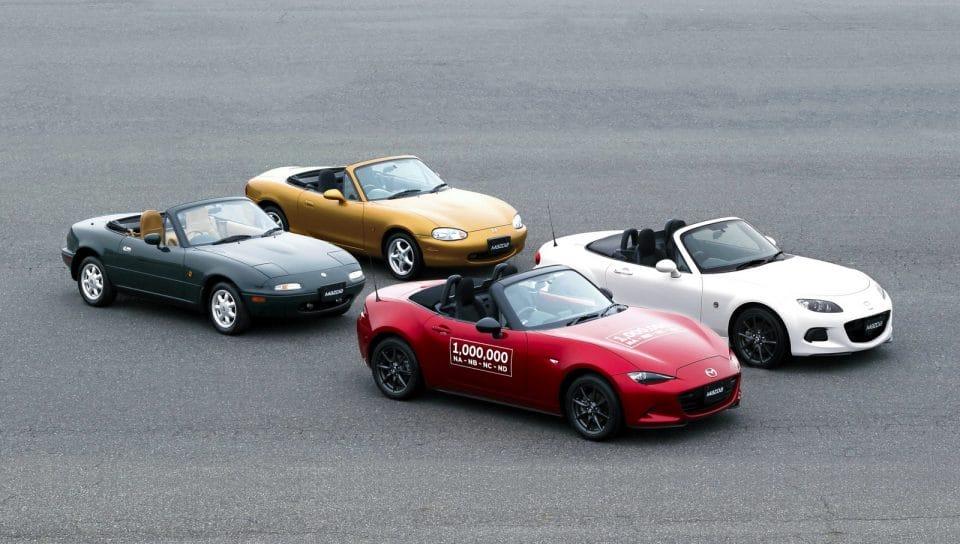 Jubileum nejlepšího roadsteru! Mazda MX-5 slaví milion vyrobených aut