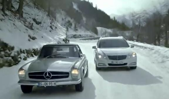 VIDEO: Schumacher a Häkkinen opět závodí. V Mercedesech, v horách
