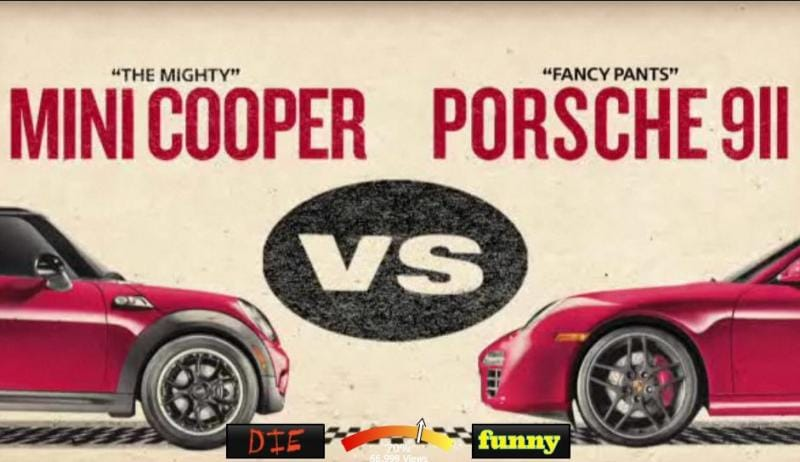VIDEO: Mini Cooper a Porsche 911 se utkaly v ringu