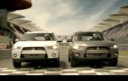 VIDEO: Nový Mitsubishi Outlander GT na závodní dráze