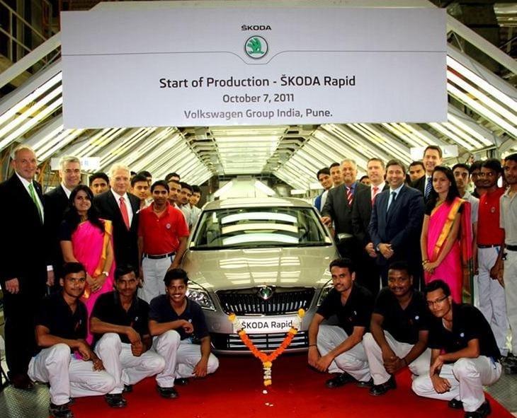 Škoda Rapid už se vyrábí v Indii, evropská verze bude jiná