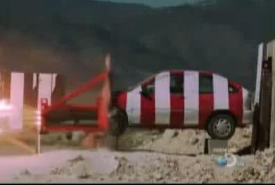 VIDEO: Jak vypadá srážka s autem v rychlosti zvuku