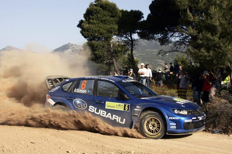 Subaru Impreza WRC skončilo v Řecku na druhém místě