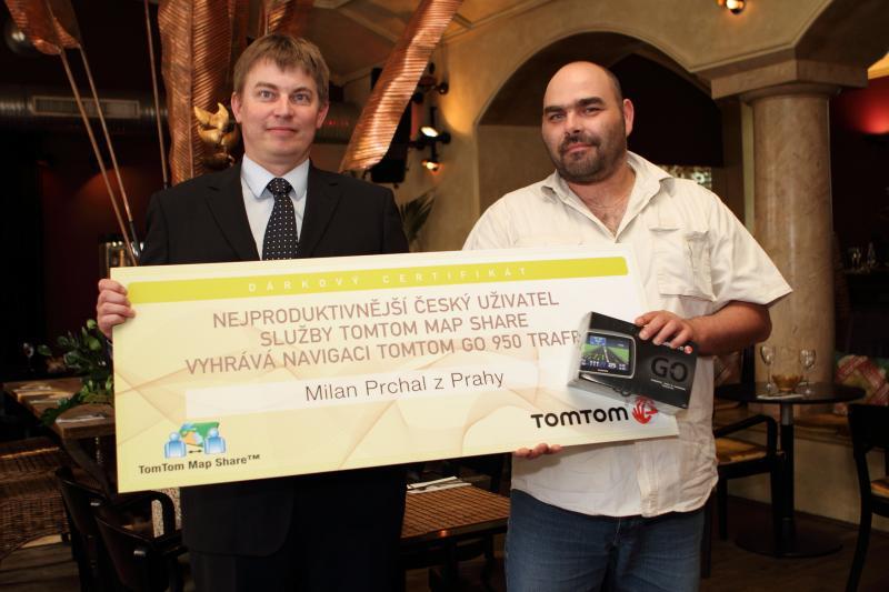 TomTom ocenil nejproduktivnějšího českého uživatele služby Map Share