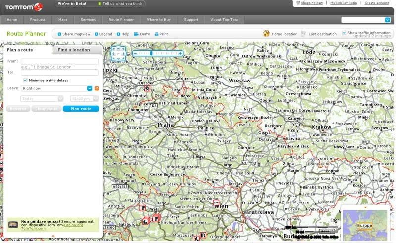 TomTom Route Planner: od poloviny května také v češtině