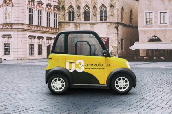 Carsharing miniaturních elektromobilů Revolt: 4 koruny za minutu v centru Prahy