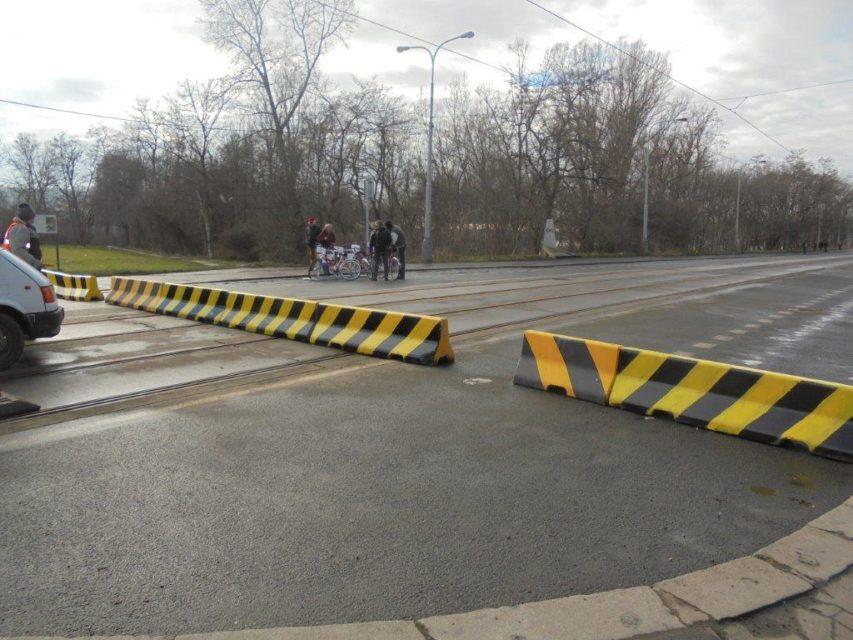 Libeňský most uzavřený pro auta a MHD, leden 2018. Foto: TSK